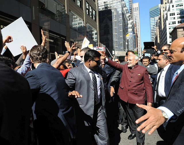 "Indian Prime Minister Narendra Modi visited New York City on Sept. 26. He told a gathering at Madison Square Garden that the ""thriving Indian-American community ... is a metaphor for the potential of our partnership."""