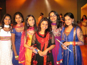 Indian students and alumni at San Jose State University attended a garba, a traditional Indian dance, in October. Indian technology services companies such as Infosys Ltd. and Wipro Ltd. are the largest seekers of the U.S. H-1B visas that allow foreign workers to be employed in the United States. (Photo by Jesus Nava Jr.)