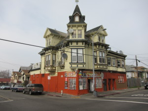 Hodo Soy Beanery's West Oakland neighborhood is a gentrifying mix of old and new.