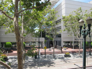 The U.S. District Court building in downtown San Jose where Chinese Professor Hao Zhang is facing criminal charges of trade-secret theft, conspiracy and economic espionage to benefit the Chinese government. His purported victims are two U.S. semiconductor companies with Silicon Valley operations.