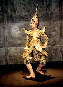Classical Cambodian dancer Charya Burt