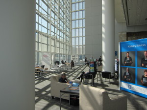 The Urban Land Institute held its 2015 Fall Meeting at San Francisco's Moscone Convention Center Wes. The second level bathed in morning sunlight (Photo by Sharon Simonson).