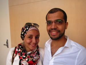 "Omnya Abdelwahab and Mohamed Essam are filmmakers from Cairo. They each have short narrative films, ""Photograph"" and ""ice cream,"" screening in the Silicon Valley African Film Festival. ""I want to make Egyptian movies that can be shown all over the world,"" he says. ""I want to tell beautiful stories,"" she says."