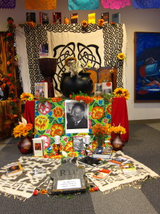 An altar to thank Dr. Martin Luther King Jr., who was assassinated in the early 1960s.