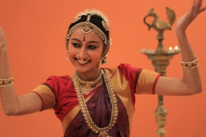 "A Bharatanatyam dancer performed in late January at the India Community Center in Milpitas for the ""Bay Area Curtain Raiser"" for The Art of Living's World Culture Festival, March 11 to March 13, in New Delhi. (Photo courtesy Satej Chaudhary)"