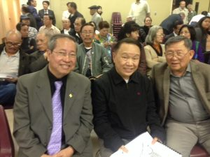San Jose Vietnamese-Americans (from left) Lam Nguyen, Ngai Nguyen and Luc Van Vu. (Photo courtesy of Lam Nguyen)